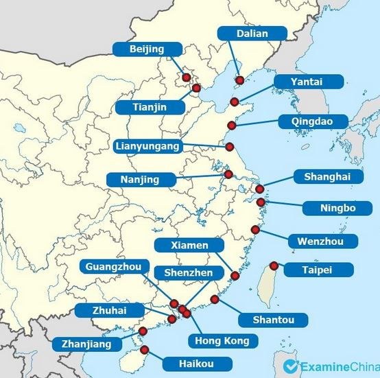Figure 11 Main sea ports in China