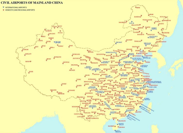 Main airports in China